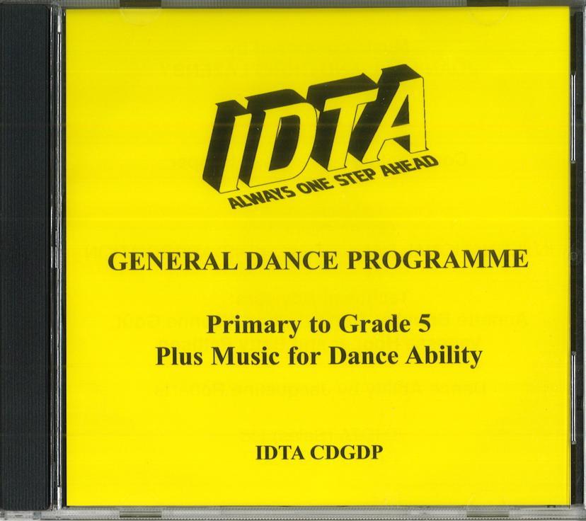 GENERAL DANCE PROGRAMME - ALL GRADES & ABILITIES CD.