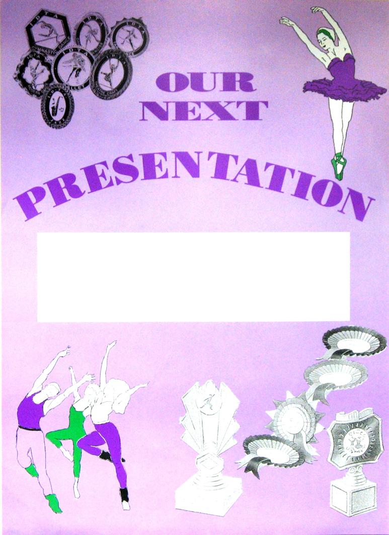 THEATRE POSTERS - Presentation.   Min. Order of 6 - or mix of posters codes X124S, X49, X29.