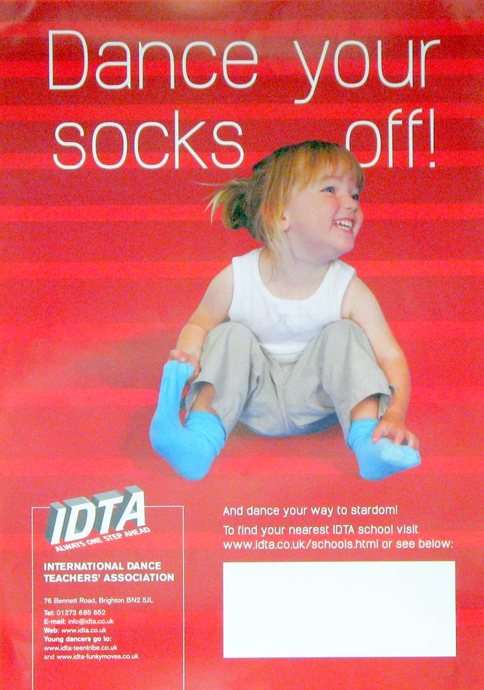 DANCE YOUR SOCKS OFF POSTERS PACK OF TEN A4