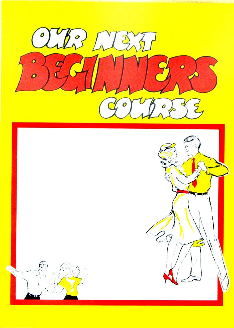 BEGINNERS CLASS POSTERS (BALLROOM).   Min. order of 6 - or any mix of posters codes X124S, X124P, X29.