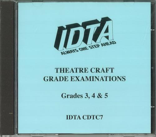 THEATRE CRAFT GRADE EXAMINATIONS CD GRADES 3, 4 & 5 - NEW SYLLABUS