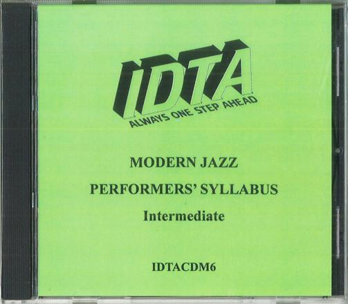 MODERN JAZZ -  INTERMEDIATE EXAMINATION CD - DIGITAL DOWNLOAD