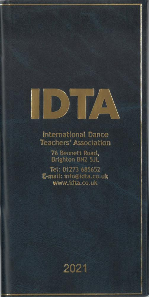 2021 IDTA MONTH TO VIEW DIARY - NEW