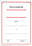 CERTIFICATES - TRADITIONAL DESIGN IN RED & BLACK
