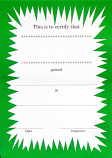 CERTIFICATES - JAZZY DESIGN IN GREEN & BLACK.