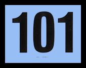 NUMBER CARDS 101-200 BLUE