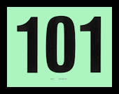 NUMBER CARDS 101-200 GREEN