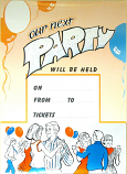OUR NEXT PARTY POSTERS (BALLROOM).  Min. order of 6 - or any mix of posters codes X124S, X124P, X29.