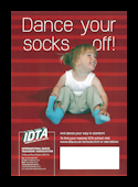 DANCE YOUR SOCKS OFF - PACK OF 10 POSTERS A3.