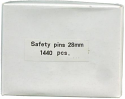 SAFETY PINS, BOX OF 10 GROSS, 28MM.