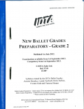 BALLET GRADES PREPARATORY - GRADE 2 SYLLABUS NOTES