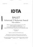 BALLET GRADES - ADVANCED 2 PERFORMER AWARD NEW SYLLABUS NOTES